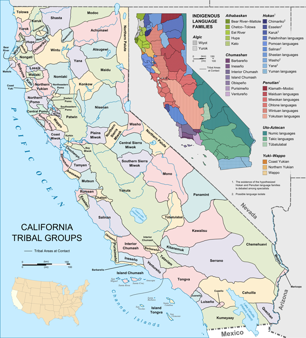 Map of California Native Tribes