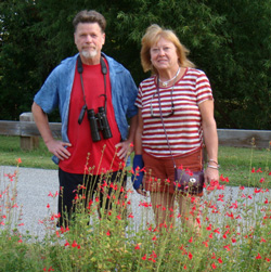 Ward Dasey and Pam Spielmann at the gardens